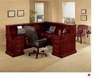 Picture of 15205 Traditional Veneer L Shape Reception Desk Workstation