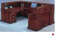 Picture of 15203 Traditional Veneer U Shape Reception Desk Workstation
