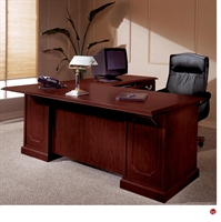 "Picture of 11990 Traditional Laminate 66"" L Shape Office Desk Workstation"