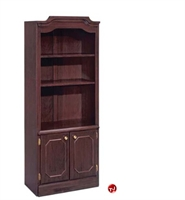 Picture of 13292 Traditional Laminate Open Bookcase with Doors
