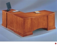"Picture of 15194 Veneer 72"" L Shape Executive Office Desk Workstation"