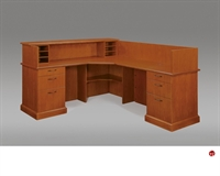 "Picture of DMI Belmont 7130-66 Veneer 72"" L Shape Reception Desk Workstation"