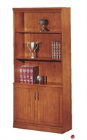 "Picture of 32611 Veneer 36"" Open Bookcase with Doors"