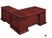 "Picture of 15420 Veneer Executive 72"" L Shape Office Desk Workstation"