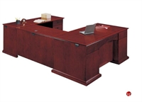 "Picture of 15418 Veneer Executive 72"" U Shape Office Desk Workstation"