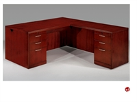 "Picture of 15898 Veneer 72"" L Shape Office Desk Workstation"