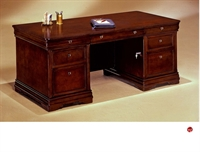 "Picture of 15476 Veneer 66""  Executive Office Desk Workstation"