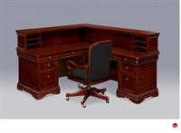 """Picture of 75350 Veneer 66""""  L Shape Reception Desk Workstation"""
