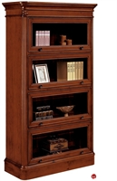 Picture of 32674 Veneer Four Door Barrister Glass Door Bookcase