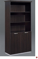 "Picture of 32694 Laminate 72"" Open Bookcase with Doors"