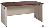 "Picture of 24"" X 42"" Steel Office Desk Shell Workstation, Partial Modesty"