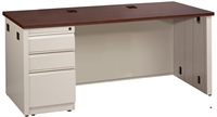 "Picture of 24"" X 48"" Single Pedestal Steel Office Desk Workstation"