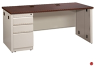 "Picture of 24"" x 48"" Single Pedestal Steel Office Desk"