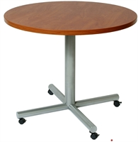 "Picture of 36"" Round Mobile Cafeteria Dining Conference Table"