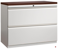 "Picture of 2 Drawer Trace Lateral File Cabinet, 30""W with Laminate Wood Top"