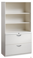 "Picture of 2 Drawer Trace Lateral File Cabinet, 42""W Steel with Bookcase Hutch"