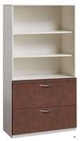 "Picture of 2 Drawer Trace Lateral File Combo Open Cabinet, 36""W Steel with Laminate Wood Front"