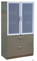 """Picture of 2 Drawer Steel, Trace Combo Lateral File with Aluminum Doors, 36""""W"""
