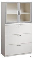 "Picture of 3 Drawer Steel, Trace Combo Lateral File with Aluminum Doors, 30""W"