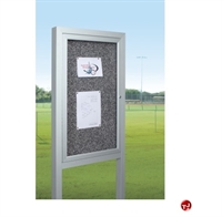 Picture of All Weather Herald Freestanding Outdoor Bulletin Cabinet, 2 Door