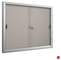 Picture of 2 Sliding Door Bulletin Board Cabinet, 4' x 5'