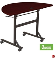 "Picture of 24"" x 48"" Half Round Mobile Flipper Training Table"