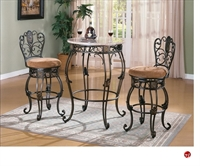 Picture of Crown Mark Jasmine Marble Top Bar Table with Barstools