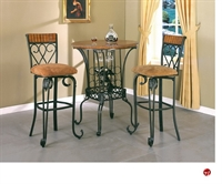 Picture of Crown Mark Alyssa  Bar Table with Swivel Barstools