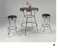 Picture of Crown Mark Retro Bar Table with Swivel Barstools