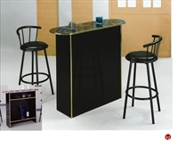 Picture of Crown Mark Poly Marble Bar Table with Swivel Barstools