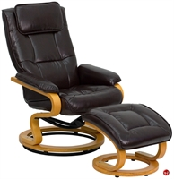 Picture of Brato Brown Swivel Recliner with Ottoman