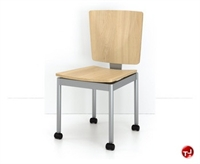 Picture of Agati Antrim Contemporary Guest Wood Mobile Stack Chair