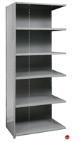 "Picture of HOD 6 Shelf Steel, Add-On 36"" x 12"" Steel Closed Shelving"