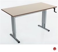 """Picture of POP 24"""" x 48"""" Height Adjustable Computer Training Table, ADA"""