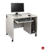 "Picture of QUARTZ 24"" x 42"" Mobile Computer Training Desk Workstation"