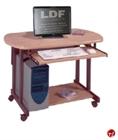 "Picture of QUARTZ 24"" X 42"" Mobile Computer Desk Cart"