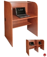 "Picture of QUARTZ 24"" x 32"" Telemarketing Study Carrel Cubicle Workstation"