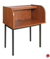 "Picture of QUARTZ 24"" x 36"" Telemarketing Study Carrel Cubicle Workstation"