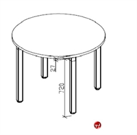 """Picture of Unisource Artiqlate 36"""" Round Meeting Table"""