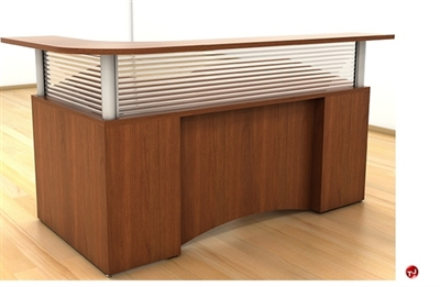 Picture of Peblo L Shape Reception Desk Workstation