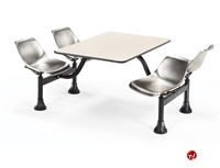 "Picture of 24"" x 48"" Cafeteria Connecting Table with Swivel Chairs"