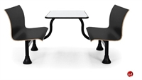 """Picture of 24"""" x 48"""" Cafeteria Dining Table with Connecting Bench"""