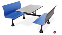 "Picture of 24"" x 48"" Cafeteria Dining Table with Connecting Bench"