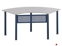 "Picture of 24"" X 48"" Half Round Meeting Conference Table"