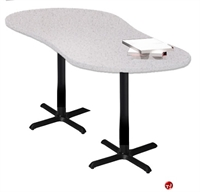 "Picture of 24"" X 67"" Crescent Meeting Conference Table"