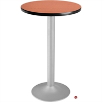 "Picture of 30"" Round Cafeteria Dining Bar Height Flip Top Table"