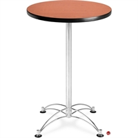 "Picture of 30"" Round Cafeteria Dining Bar Height Table"
