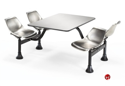 """Picture of 30"""" x 48"""" Cafeteria Connecting Table with Swivel Chairs"""
