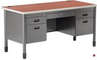 """Picture of 30"""" x 60"""" Steel Teacher's Desk"""