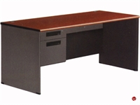 "Picture of 30"" x 66"" Steel Office Desk Workstation, Filing Pedestals"